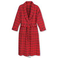 The MAGEE Genuine Irish Cotton Flannel Bath Robe Red Plaid Size Large