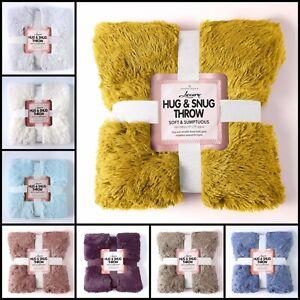 Luxury Fur Snug Hug Mink Faux Fur Sofa Couch Throw Blanket Bedspread 150x200 cm
