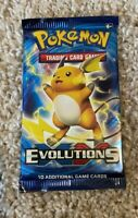 1 Pokemon TCG XY Evolutions Booster Pack Raichu Artwork!!