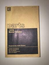 Caterpillar Cat 140g Motor Grader Parts Manual 72v4231 Up