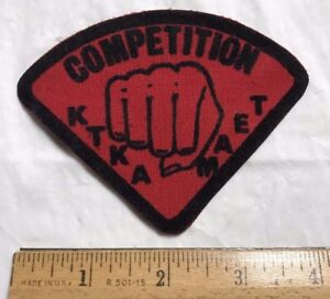 KTKA AKTK Competition Team Red + Black Punching First Martial Arts Patch