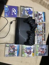 SONY Playstation 3 + 2 Controllers & 8 Games Inc Fifa PS3