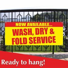 Wash Dry Fold Service Banner Vinyl Mesh Banner Sign Now Available Dry Cleaners
