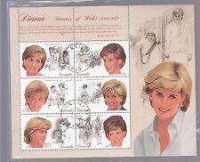 Grenada 1997 Principessa Diana SHEETLET sg3497-3502 PLEASURE USED USATO FAVORE