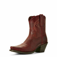 Ariat 10027260 Women's Lovely 4LR Footbed Leather D Toe Grenadine Cowgirl Boot