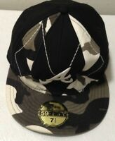 New Era Atlanta Braves Camo 59Fifty Fitted Hat (Black/White/Gray MLB Cap