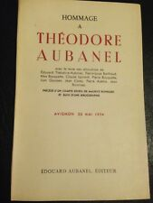 HOMMAGE A THEODORE AUBANEL 1°EDITION 1954 PROVENCE FELIBRIGE