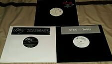"STING ALOT OF 3 ""12"" PROMO'S VINYL AM RECORDS 2000'S 33RPM DANCE EX TO EX+"