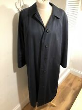 BURBERRYS Ladies Navy Blue Single Breasted Trench Coat! UK16! Used! Only £89,90!