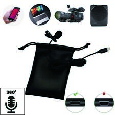 Mini Portable Clip Lapel microphone For Android phone and Recording Video #2