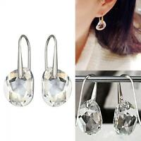 Jewelry Rhinestone Ear Stud Hook Earrings Crystal Drop Dangle