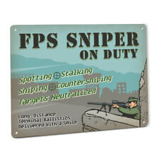 FPS Sniper On Duty Sign Gamer 3D Shooter Console PC Game Online Combat Player