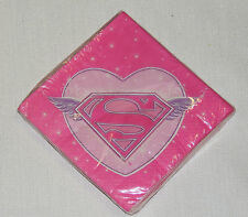 NEW ~SUPERGIRL~ 16- DESSERT NAPKINS , PARTY SUPPLIES
