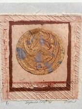 "Debra A Olson Fine Art Original Signed & Numbered 1/1 ""Japanese Crest IV"" 1 of 1"