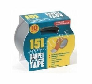 151 ADHESIVES CARPET VINYL FLOORING TAPE STRONG & RELIABLE 48mm x 10m