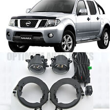 Fog Lights Lamps Complete Kit For Nissan NAVARA D40 2005-2014 WITH BULBS