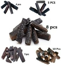 4 5 8 9 10 Pcs Ceramic decorative Log for Gas Fireplace, stoves, firepit