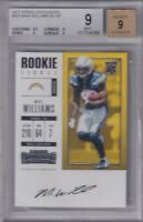 Mike Williams 2017 Panini Contenders Rc On Card Auto Bgs 9/9 bgs #0010346368