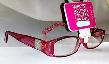 -foster-grant-posh-women039s-reading-glasses-plum-red-250-strength-spring-hinges