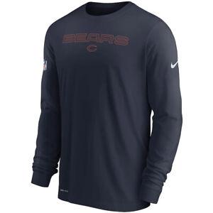 New 2021 Chicago Bears Nike Sideline Team Issue Performance Long Sleeve T-Shirt