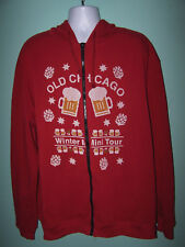OLD CHICAGO Winter minitour Mens Full Zip Thin Red Hoodie Size 3XL