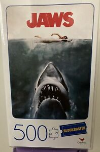 BLOCKBUSTER VIDEO - JAWS - 500 PIECES JIGSAW Puzzle!