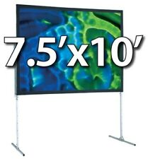 DRAPER 241010 - UFS 7.5'x10' COMPLETE SCREEN SYSTEM - FRONT PROJECTION - T-LEGS