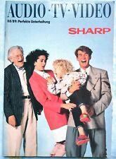 Sharp Audio TV Video Catalog 1988 1989 (Free shipping)