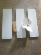 42cmWhite Glass X 3 Shelves