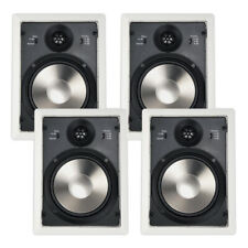 """4 Pack 6.5"""" In Wall Speakers 6 Ohms 2-Way Home Theater 40W Rms 6.5-inch - White"""