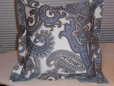 "RALPH LAUREN  HARBOR ISLAND PAISLEY BLUE SHAM FOR PILLOW 16"" X 16"""