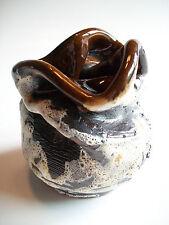 VON PAUL - Vintage Studio Pottery Vase - Compressed Rim - Canada - Late 20th C.