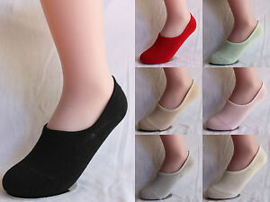 Ladies Girls Women No Show Invisible Low Cut Stretch Heels Boat Socks SOL03
