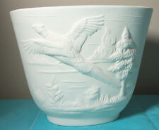 New listing Ceramic Bisque Oval Pheasant Planter Bell Mold 355A X2129 Ready to Paint