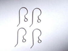 NEW - 10 Pieces - 5 Pair Titanium French Hook Ear Wires 21 gauge