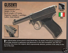 GLISENTI PISTOL 9mm Italy Hand Gun Atlas Classic Firearms PHOTO HISTORY CARD