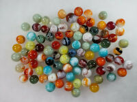 LOT OF 90 VINTAGE MARBLES Regular Size Collector's JABO Agate Swirl Mix
