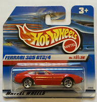 2000 Hotwheels Ferrari 365 GTB/4 Daytona Red European Short Card Release MOC!