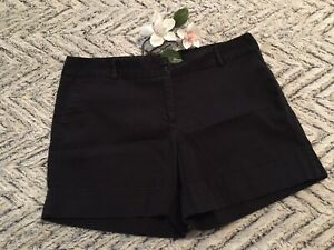 Apostrophe Women's Black Cotton Blend Cuffed Fiona Shorts Size 12 *
