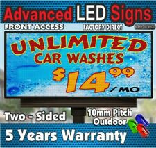 Long Life Led Sign Indoor Outdoor Full Color P10 Scrolling 19h X 63 Usa