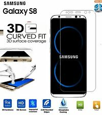 NEW Full Curved 3D Tempered Glass Screen Protector cover For Samsung Galaxy S8