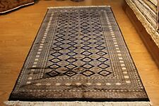 Navy Blue diamond design 5' x 8' Handmade hand-knotted Rug fine quality #PM75