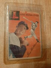 1954 Topps #1 Ted Williams. Boston Red Sox. POOR