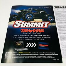 Traxxas Summit TQi 2.4GHz Model 56076-4 Quick Start Guide Manual Pack New