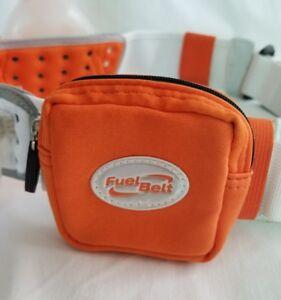 Fuel Belt R2O 2 Bottle Waist Pack Orange White Padded Breathable Cyclist Runner
