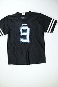 Kids NFL Black Detroit Lions Short Sleeve Jersey XL EUC