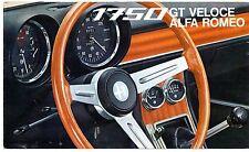 Alfa Romeo 1750 GT Veloce 1968-70 UK Market Foldout Sales Brochure