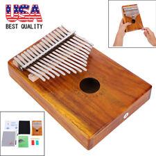 EQ 17 Key Kalimba Mbira Thumb Piano Link Speaker Pickup w/ Bag Sticker