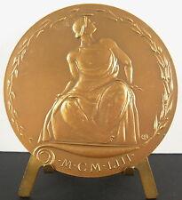 Médaille Académie Architecture à Arlette Planchon 1981 Architecte Navarre medal