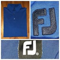 Footjoy Men's Short Sleeve Blue Men's Golf Shirt Size Medium
